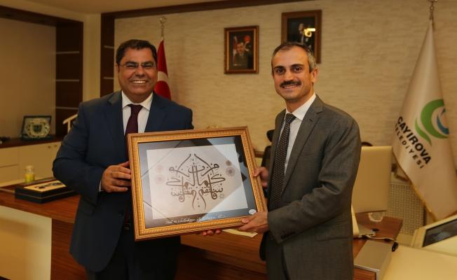 GTÜ Rektörü Aslan, Başkan Çiftçi'yi Ziyaret Etti
