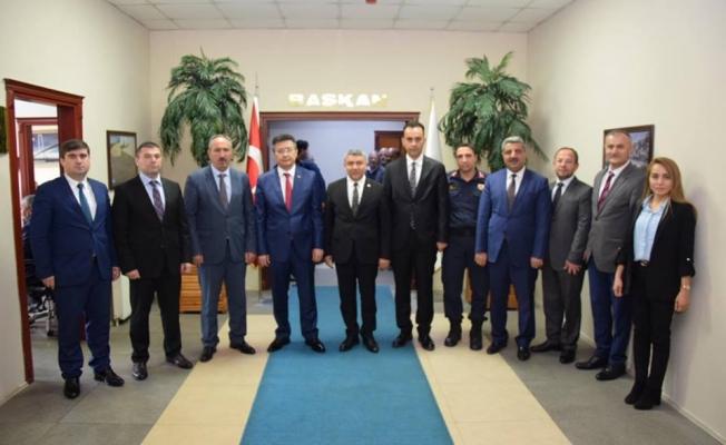 İlçe Protokolünden Başkan Şayir'e tebrik ziyareti
