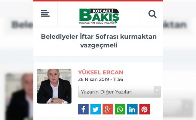 Yüksel Ercan'ın yazısı büyük yankı yaptı: