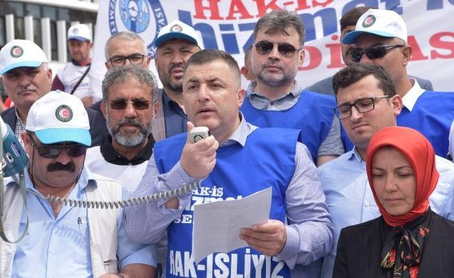 Hizmet-İş Bolu'da 1 Mayıs bildirisi okudu