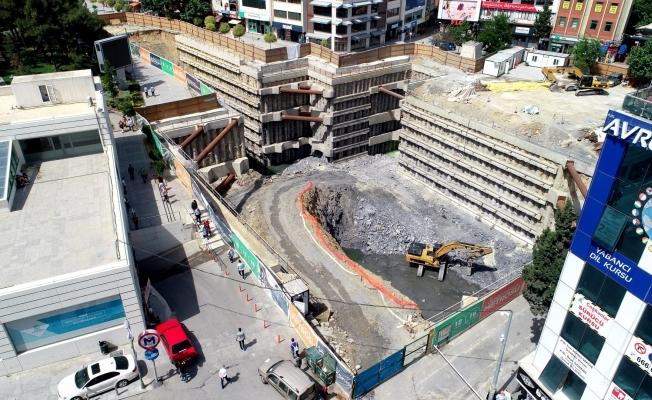 Gebze Metrosu projesinde istasyon çalışmaları devam ediyor