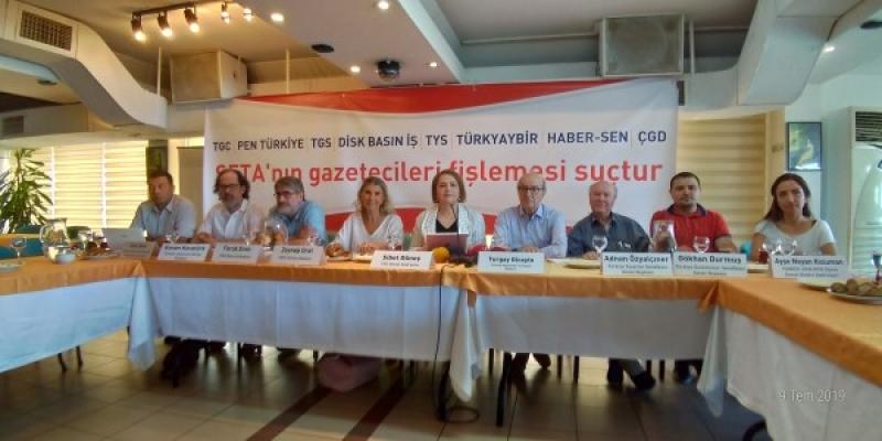 """TGC'de ortak basın toplantısı: 'SETA'nın gazetecileri fişlemesi suçtur"""""""