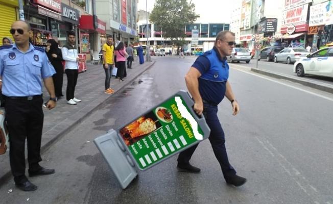 Gebze'de kaldırım işgaline izin yok!