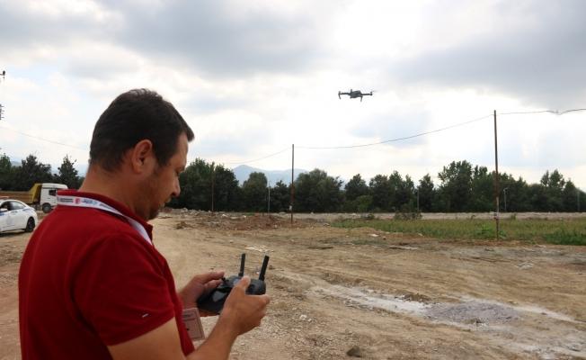 Kaçak hafriyata droneli denetim