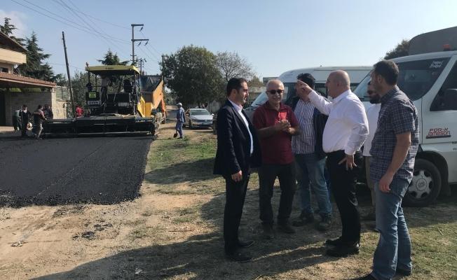 Başkan Bıyık asfalt çalışmalarını inceledi