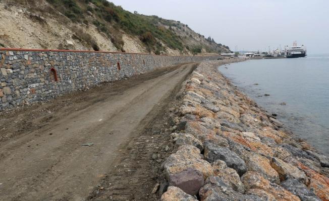 Darıca -Eskihisar Sahil yolunda hummalı çalışma