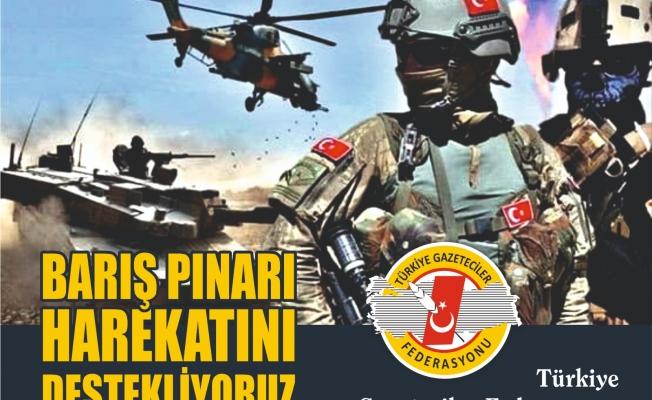 """TGF' den 'Barış Pınarı Harekatı"""" açıklaması  ' SINIR ÖTESİ OPERASYONU DESTEKLİYORUZ"""""""