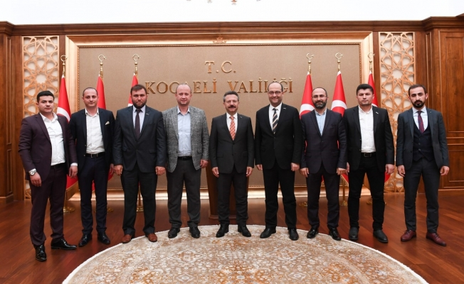 Anadolu Aslanları İş Adamları  Vali Aksoy'u  Ziyaret Etti