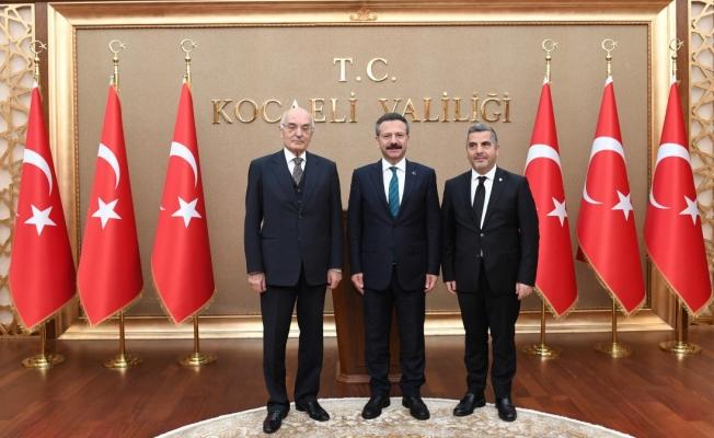 Ankara Üniversitesi Dekanı, Vali Aksoy'u ziyaret etti