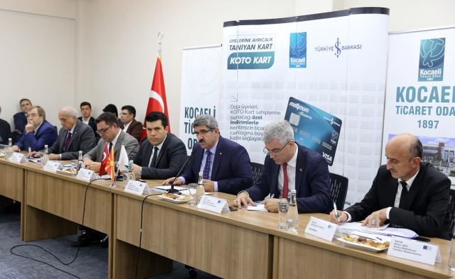Makedon Bakan'dan Kocaeli iş dünyasına 'yatırım' çağrısı;  'Makedonya'ya gelin!'