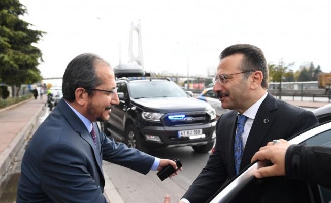 Vali Aksoy, İl Müftüsü Sinan Cihan'ı Ziyaret Etti