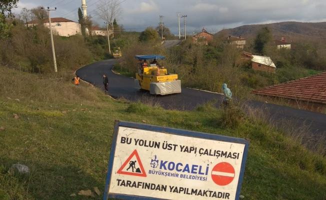 Dikenli Köy yolu yapıldı