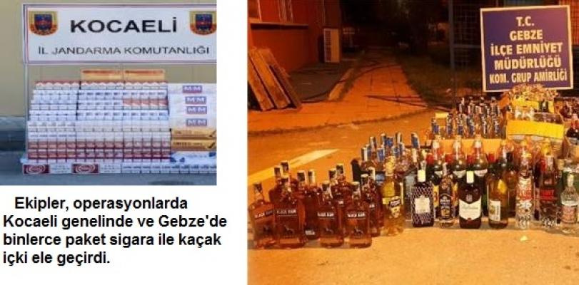 Kocaeli'de Kaçakçılıkla Müthiş Mücadele: Binlerce Paket Kaçak Sigara ile İçki Yakalandı!