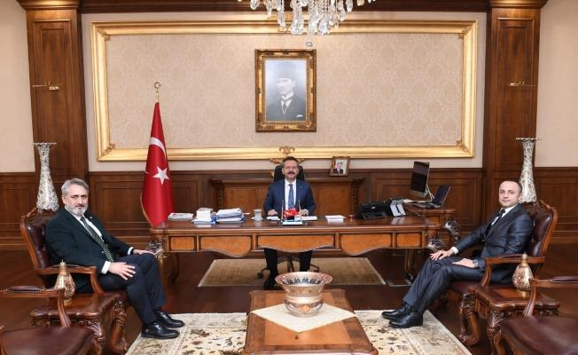Spor Kulüpleri yöneticileri Vali Aksoy'u ziyaret etti