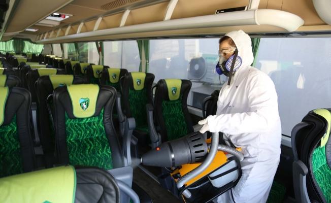 Büyükşehir koronavirüse karşı dezenfekte çalışmalarına aralıksız devam ediyor
