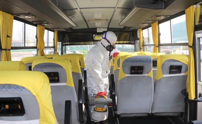 Kocaeli'de  22 bin 191 araç dezenfekte edildi