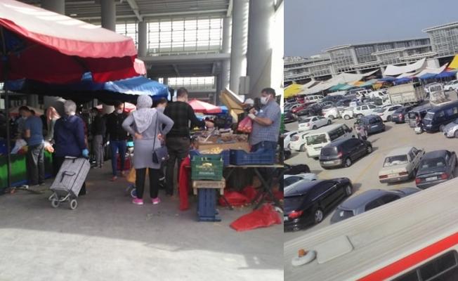 Vatandaşlar dün alışverişe  böyle hücum etti!