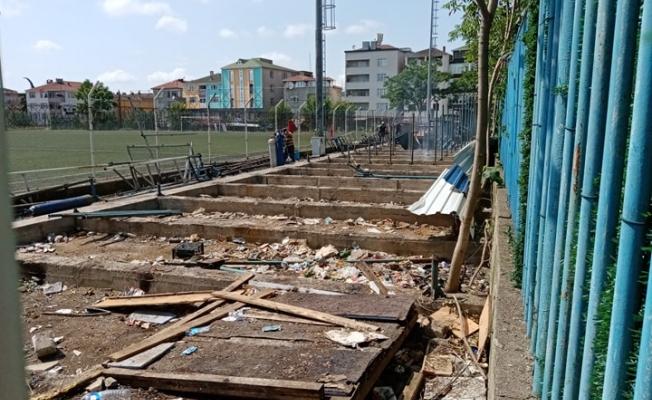 Gebze Metin Oktay Stadı'nın son görüntüleri