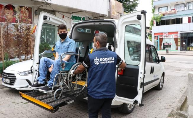 YKS için engellilere özel ulaşım hizmeti verildi