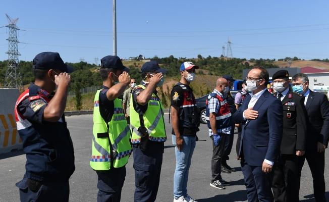 Vali Yavuz, Kuzey Marmara Otoyolunu denetledi