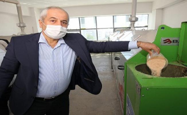 4 ton organik gübre üretiliyor