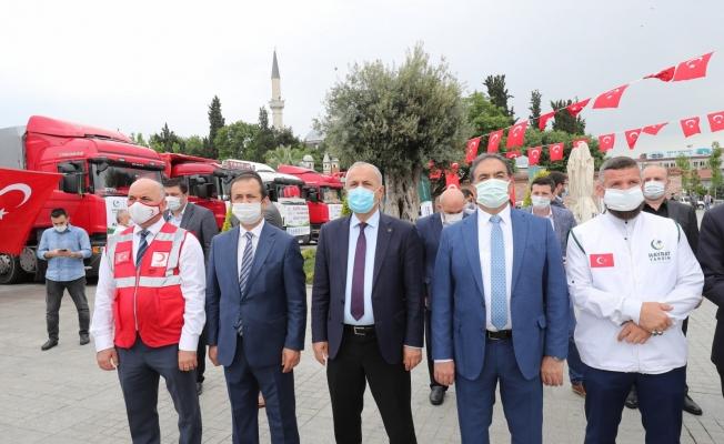 Gebze'den Suriye'ye Dualarla Uğurlandı