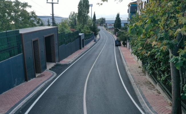 Darıca Körfez Caddesi'nde yol çizgileri çizildi