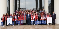 'Damla Projesi' Gençleri'nden Vali Aksoy'a ziyaret