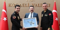 SOLO TÜRK F16 Gösteri Ekibi, Vali Aksoy'u ziyaret etti