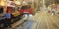 Tramvay seferini engelleyenlere ceza