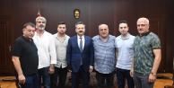 Gebzespor Kulüp Yönetimi Vali Aksoy'u ziyaret etti