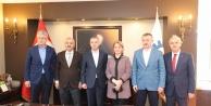 Başkan Büyükgöz Genel Başkan Yardımcısı Erkan Kandemir'i makamında ağırladı