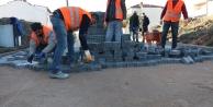 Çayırova'da kilit taşı çalışması