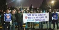 """Türk Metal işçisinden """"ıslıklı"""" protesto!"""