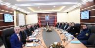 Üniversite Güvenlik Toplantısı, Vali Aksoy'un başkanlığında yapıldı