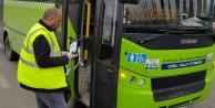 Büyükşehir, halk otobüslerine el dezenfeksiyonu ve maske dağıttı