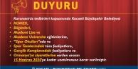 Büyükşehir etkinliklerine verilen ara 15 Haziran tarihine uzatıldı