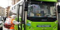 Çayırova'da Halk otobüsleri dezenfekte edildi