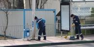 Kent genelinde tüm yol ve duraklar temizleniyor