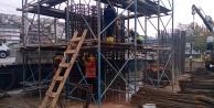 Tramvay inşaatı yağmura rağmen devam ediyor