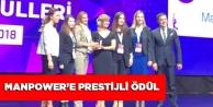 """Manpower Türkiye, 'İnsana Saygı"""" ödülü aldı"""
