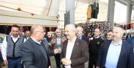Pazarcılar, Başkan'a sıkıntılarını anlattı