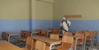 Sınavlara ev sahipliği yapacak okullar dezenfekte ediliyor