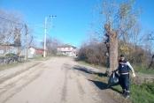 Gebze'nin köylerinde mıntıka temizliği