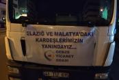 GTO'nun yardım TIR'ı Elazığ'da!